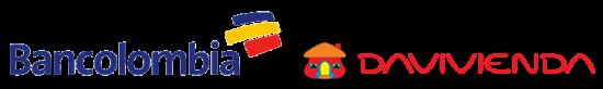 logos bancolombia y davivienda