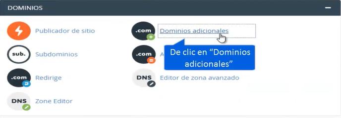 Agregar dominios adicionales paso 2