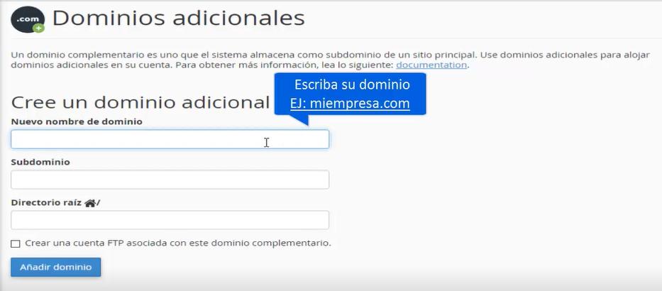 Agregar dominios adicionales paso 3