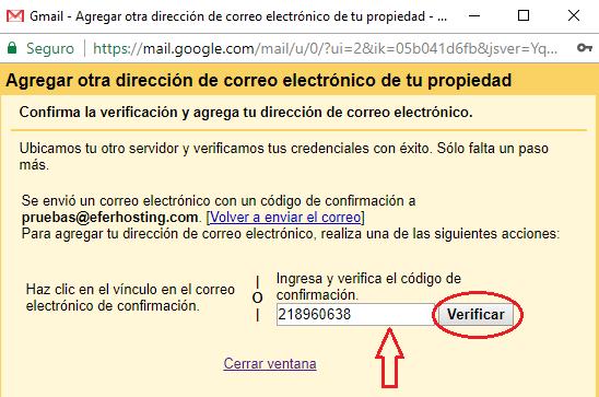 Paso 11 para agregar cuenta de correo a Gmail