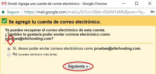 Paso 9 para agregar cuenta de correo a Gmail